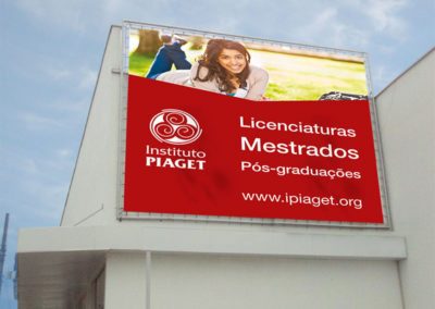 Instituto Piaget lonas publicitárias