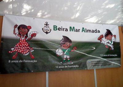 Clube Beira Mar Almada lonas publicitárias