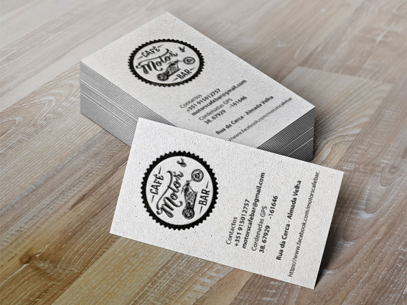 cartões de visita Motors Café