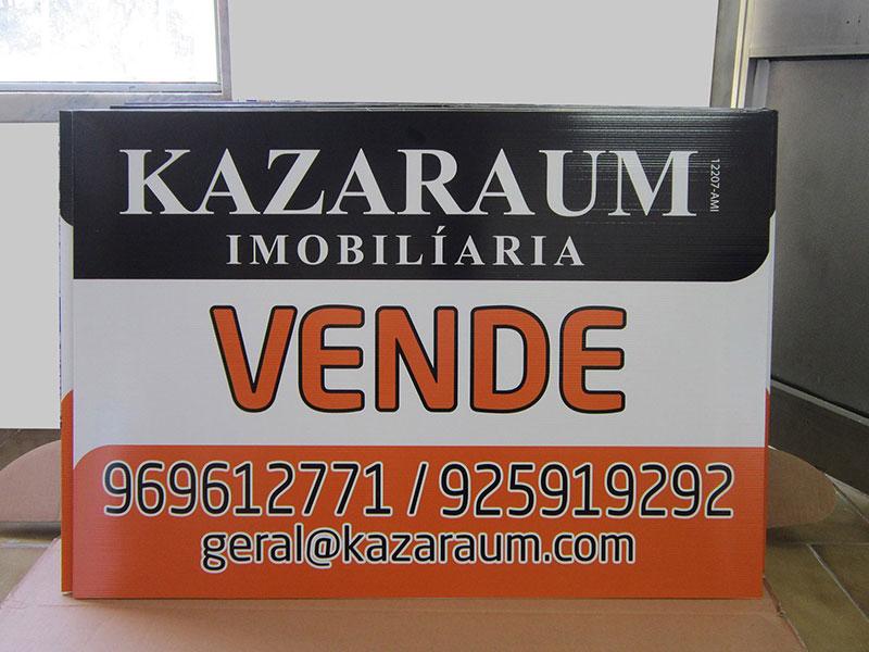 Placas imobiliárias PPA 100 x 500 mm