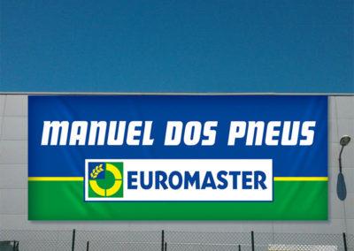 Manuel dos pneus Euromaster Lonas publicitárias