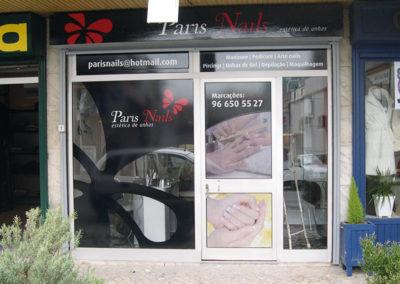 Paris Nails Decoração de montra