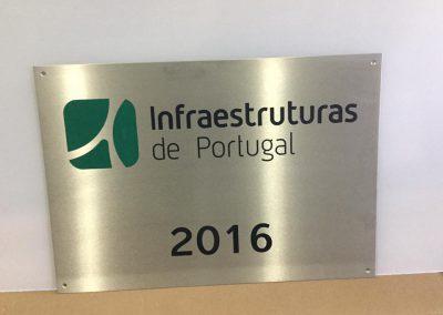 Infraestruturas de Portugal Placa inox