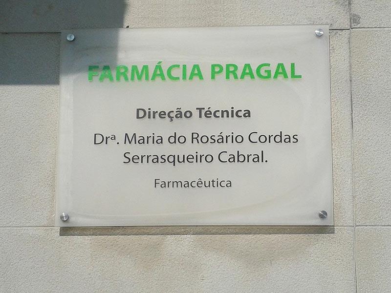 Placa de acrílico Farmácia Pragal