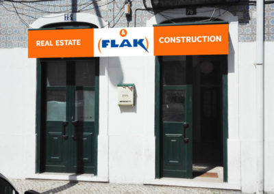 Flak imobiliária placa publicitária