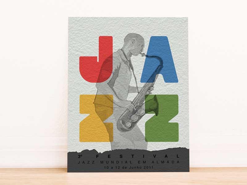 Impressão em papel Jazz Festival cartaz