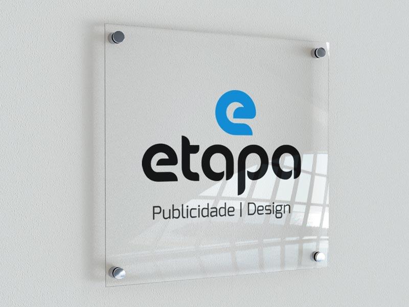 Placas de Acrílico logotipo etapa