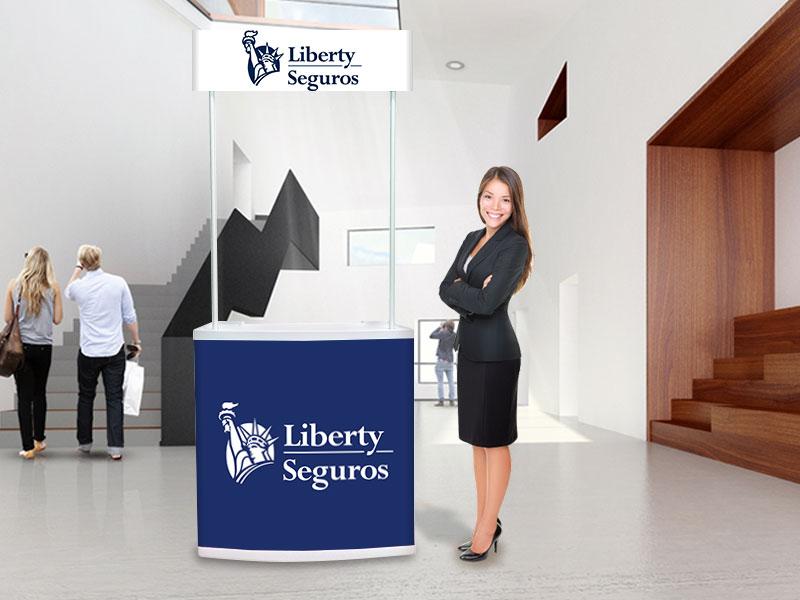 Balcões publicitários liberty seguros