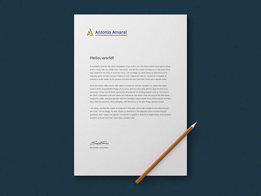 Papel de Carta António Amaral