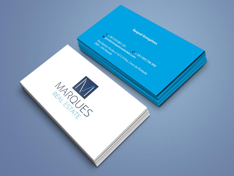Marques Real Estate impressão de cartões de visita