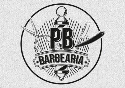PB Barbearia logotipo